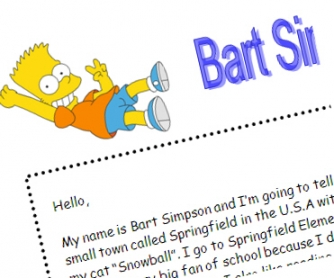Bart Simpson's daily routine