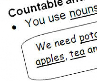 Countable and Non-Countable Nouns
