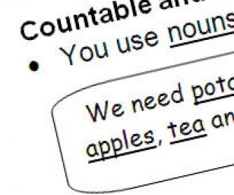 Countable and Non-Countable Nouns