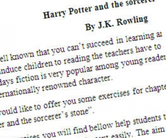 Harry Potter and the Sorcerer's Stone: Printable Worksheet