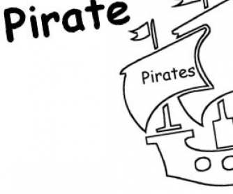 I'm a Pirate: Creative Writing Template For Kids