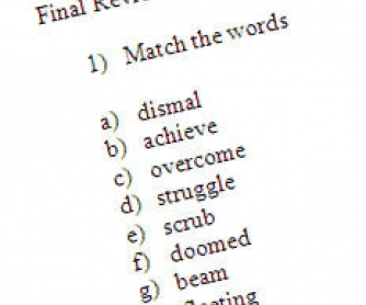 Review Worksheet for Advanced Level Students