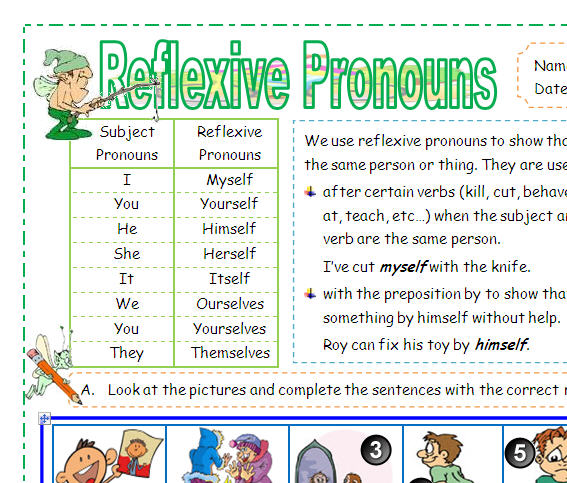 question and self reflexive pronouns Pronouns: reflexive ( myself, themselves, etc) reflexive pronouns end in -self or -selves questions: interrogative pronouns (what.