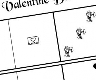 Saint Valentine's Dominoes
