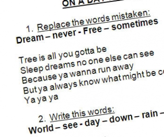 Song Worksheet: On a Day Like Today (WITH VIDEO)