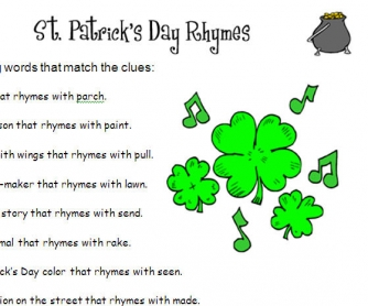 St. Patrick's Day Rhymes