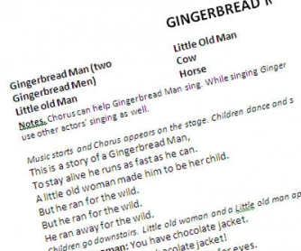 Gingerbread Man Play For School Theatre