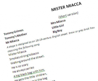Mr Miacca, another play for a school theatre