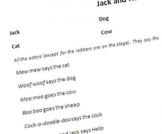Jack and His Friends, the 3rd play for a school theatre