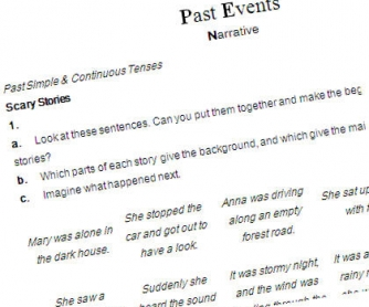 Past Events: Past Tenses