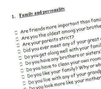 good personality questions