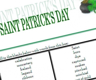 Saint Patrick Worksheet