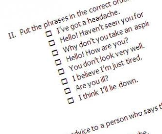Health Test Printable Worksheet
