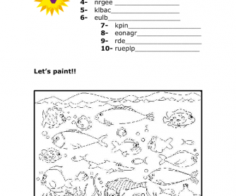 Colours everywhere! Worksheet for Kids