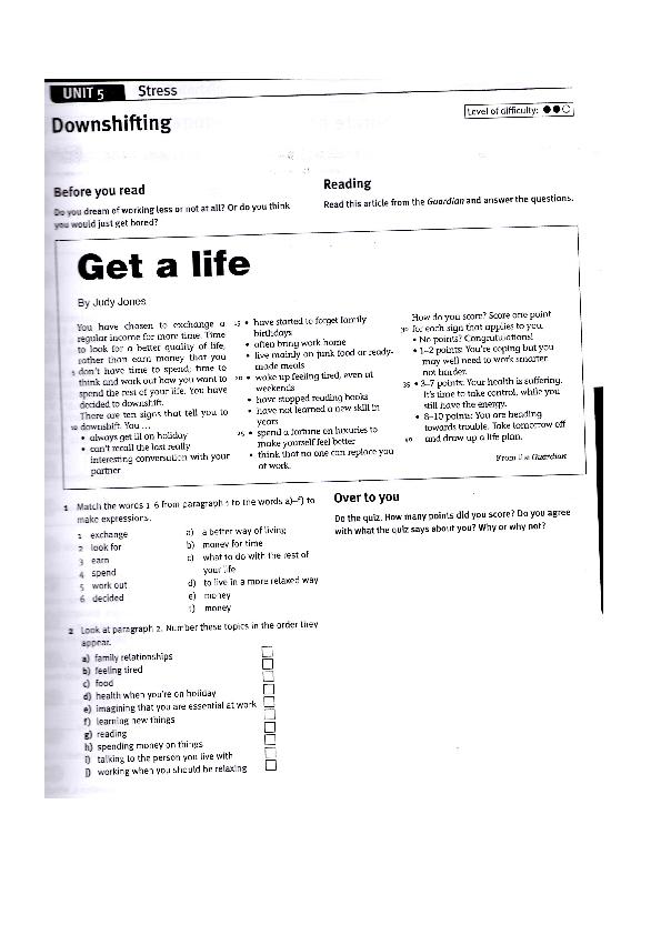 pre-intermediate newspaper articles