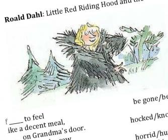 Roald Dahl: Little Red Riding Hood - Poem