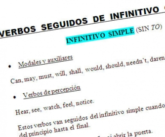Complete/Incomplete Infinitive/Gerund: for Spanish users