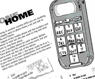 Phone Home: Phone and Numbers Printable Worksheet
