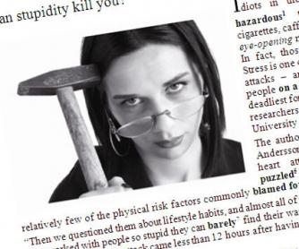 Can Stupidity Kill You? Printable Worksheet
