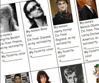 Famous people and Nationalities