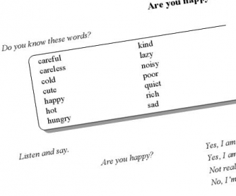 Are You Happy: Personality Adjectives Printable Worksheet