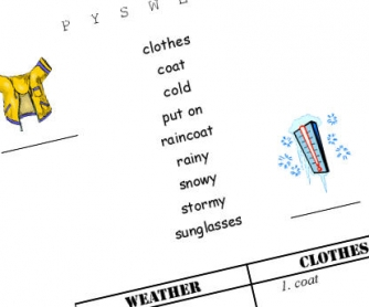 Dressing for the Weather Wordsearch