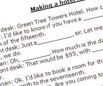 Hotel English: Making a Hotel Reservation