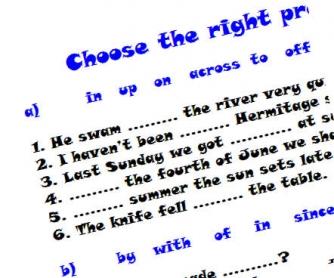 Choose the Right Preposition