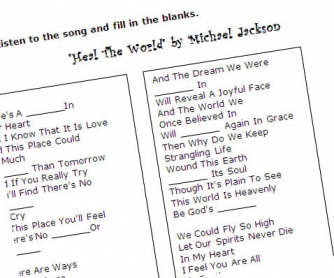 Heal the World by Michael Jackson: Song Worksheet