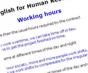 English for Human Resources - Business English Collection