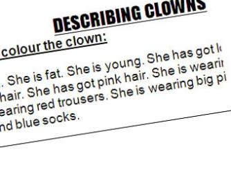 Describing clowns