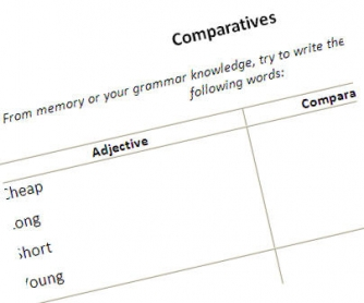 Comparatives Review & Practice