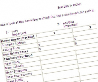 Buying a Home: Upper Intermediate Checklist Worksheet