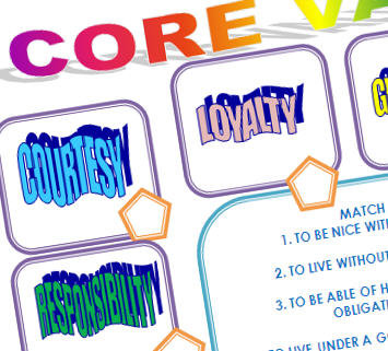 Personal Core Values Worksheet
