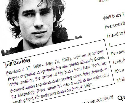 Past Simple With Jeff Buckley And His Hallelujah With Video