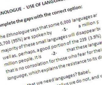 Ethnologue: Use of Language and Multiple Choice Activity