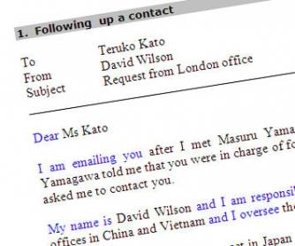 Sample E-mails