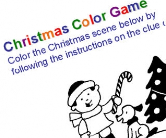 Christmas colour game