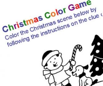 Christmas colour game