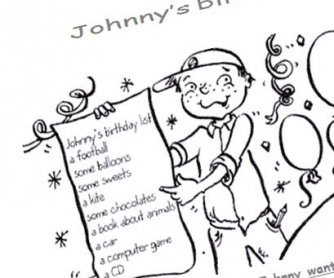Johnny's Birthday: Wishlist Worksheet