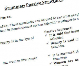Passive Report Structures