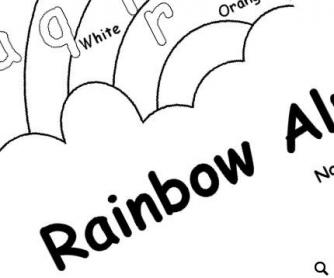Rainbow Alphabet: Colouring Worksheet