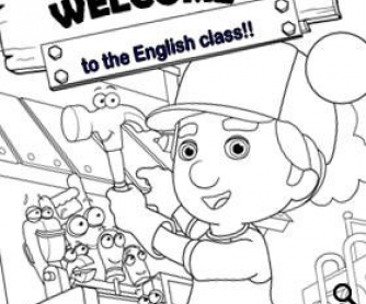 Welcome Card for the First Day at Kindergarten