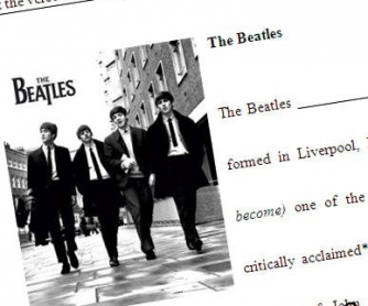 Beatles Intermediate Worksheet