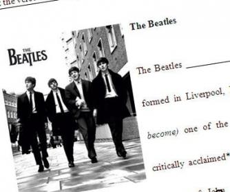 Beatles Intermediate Worksheet