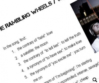 Song Worksheet: WILD - Rambling Wheels (WITH VIDEO)