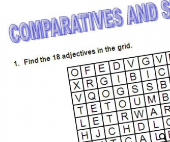 Comparatives and Superlatives Crossword