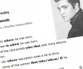 Relative Clauses with Elvis