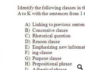 Identifying Types of Clauses: Upper-Intermediate Worksheet