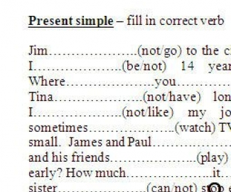 Present Simple and Present Continuous Practice